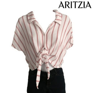 New  Wilfred Free Tie-Front Cropped Shirt